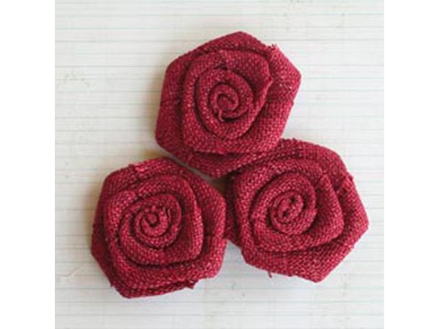 Linen Burlap Roses 2