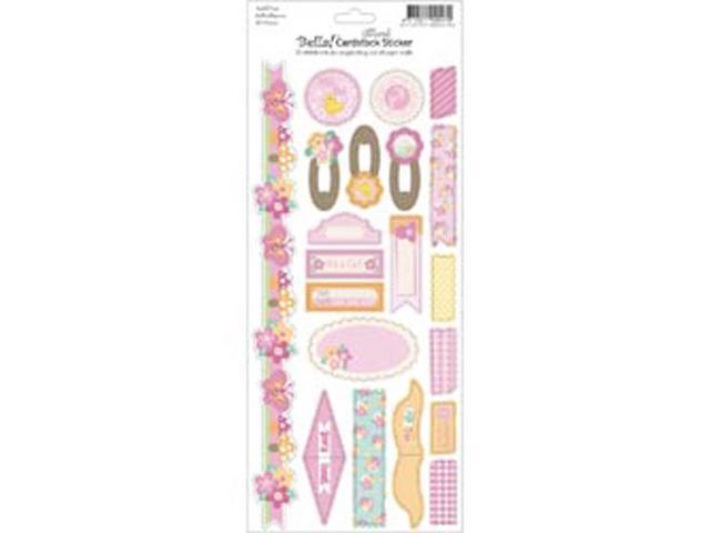 Bella! Baby Girl Glitter Cardstock Stickers 4.5
