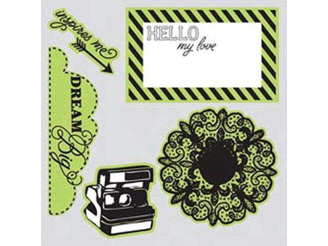 Sizzix Framelits Dies 5/Pkg With Clear Stamps By Echo Park-Everyday Eclectic #2