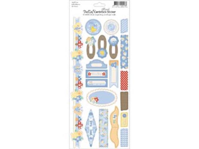 Bella! Baby Boy Glitter Cardstock Stickers 4.5