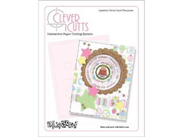 Clever Cuts Plastic Template-Layered Circle