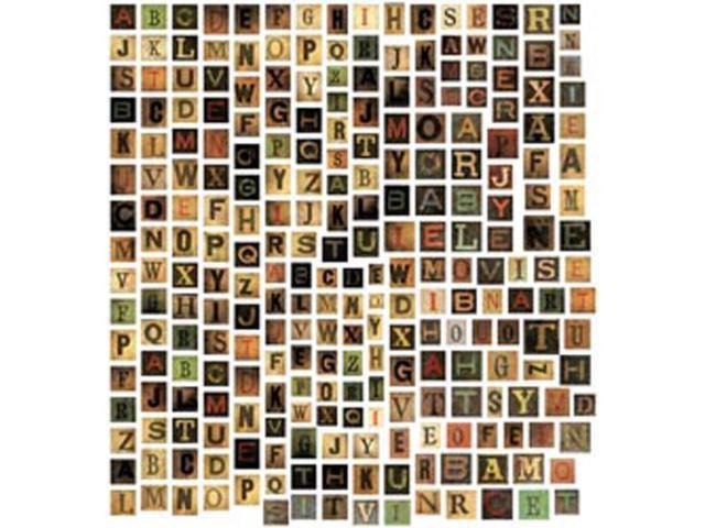 Idea-Ology Alpha Tiles Chipboard Letters .6875