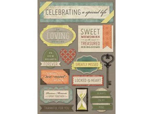 In Loving Memory Cardstock Stickers 5.5
