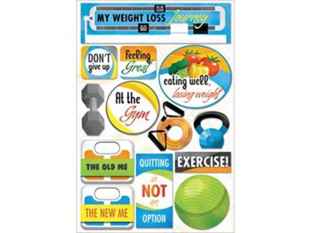 Weight Loss Cardstock Stickers 5.5