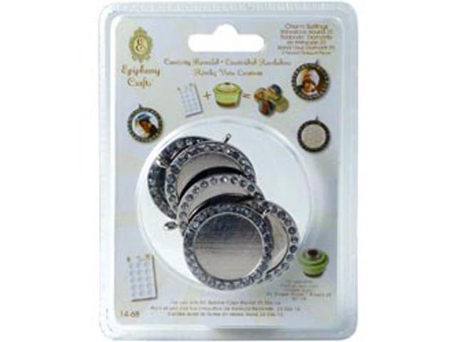 Epiphany Crafts Rhinestone Charm Settings-Round 25; 5/Pkg
