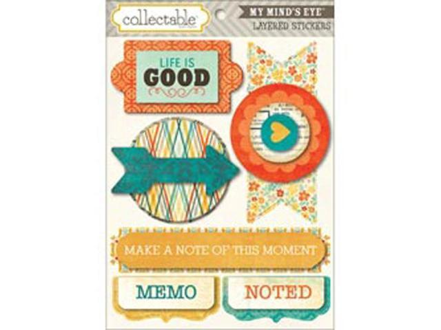 Collectable Notable Layered Stickers-Memo