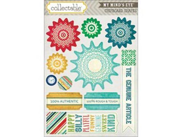 Collectable Remarkable Chipboard Shapes-Authentic