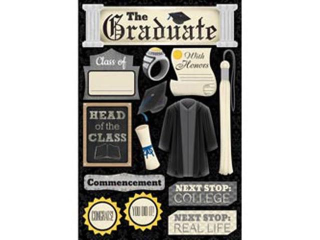 Graduation Cardstock Stickers 5.5