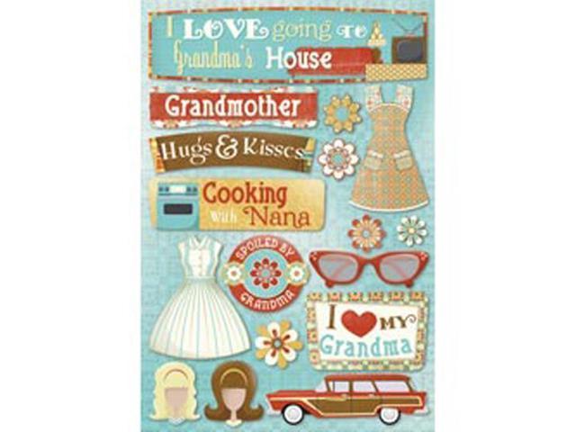 Grandma Cardstock Stickers 5.5