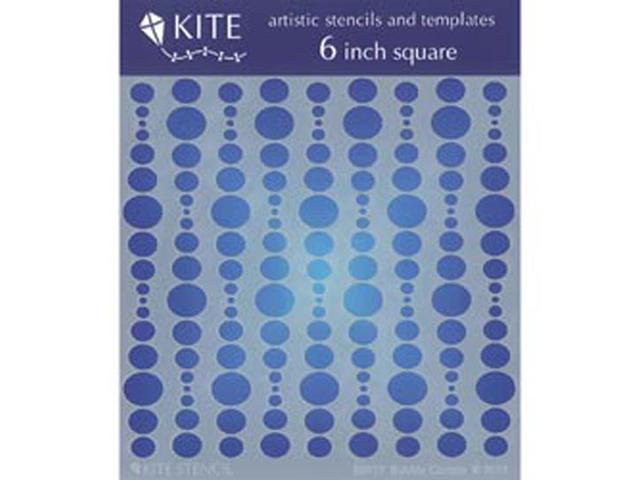 Judikins 6 Inch Square Kite Stencil-Bubble Curtain