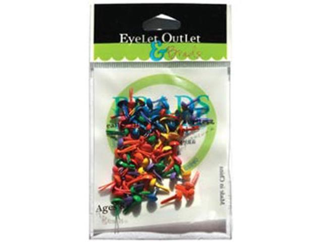 Eyelet Outlet 4mm Round Brads 70/Pkg-Summer