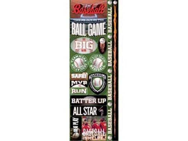Real Sport Die-Cut Cardstock Stickers 4.25