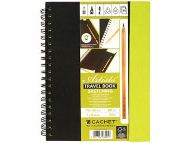 Darice DR473229 Cachet Travel Sketch Book W/Pencil 7''X10''-40 Sheets