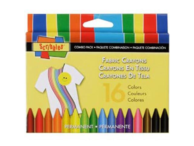 I Love To Create 30644 Scribbles Fabric Crayons 16/Pkg-Primary & Neon