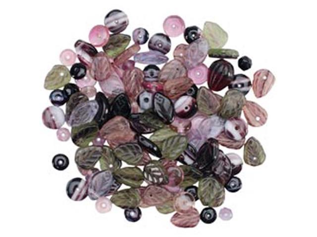 Square Tube Glass Bead Mix 2Oz/Pkg-Sweep Fall Mix
