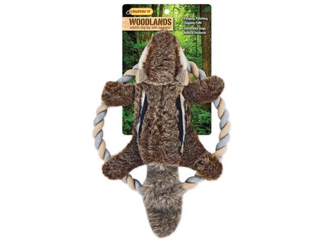 Woodlands Plush Chipmunk Rope Ring Tosser Dog Toy-