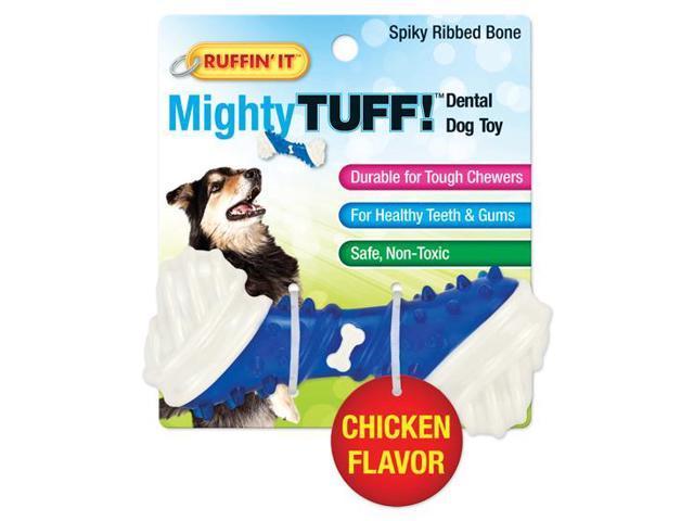 Mighty Tuff Spiky Ribbed Bone Dog Toy-