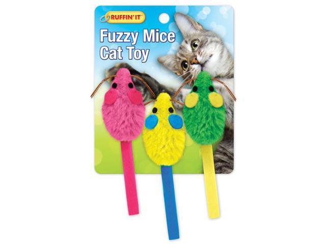 Fuzzy Mice W/Catnip 3/Pkg-
