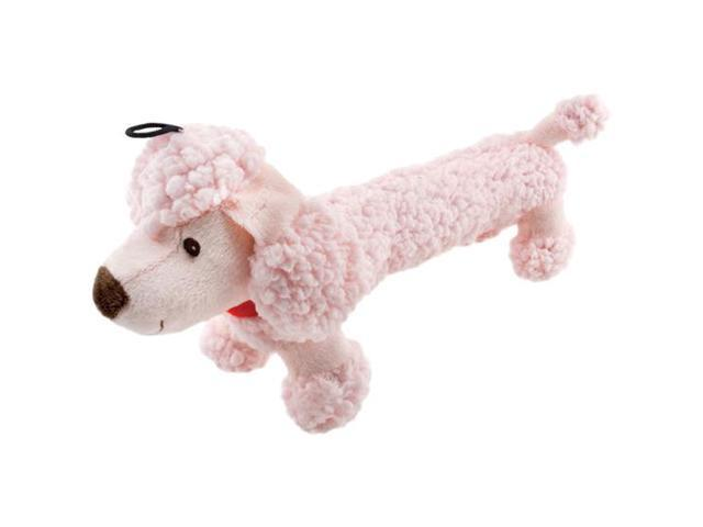 Fetch-A-Pal With Squeaker Plush Poodle Dog Toy-