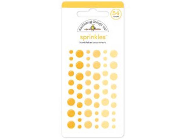 Monochromatic Sprinkles Glossy Enamel Sticker Dots 54/Pkg-Bumblebee
