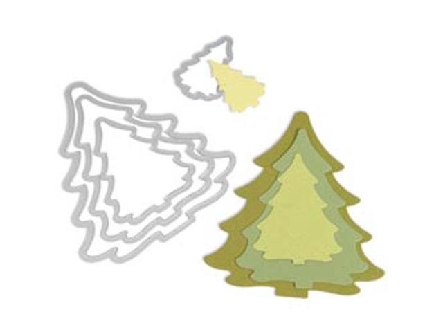 Sizzix Framelits Dies 4/Pkg-Christmas Trees