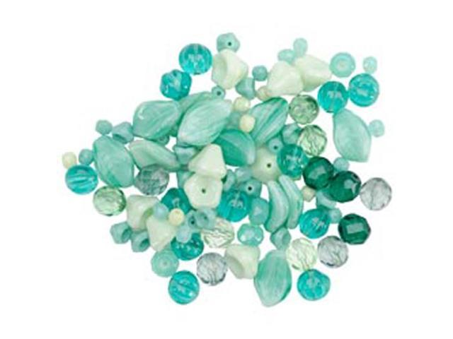 Square Tube Glass Beads 2oz-Pressed Nature Mix