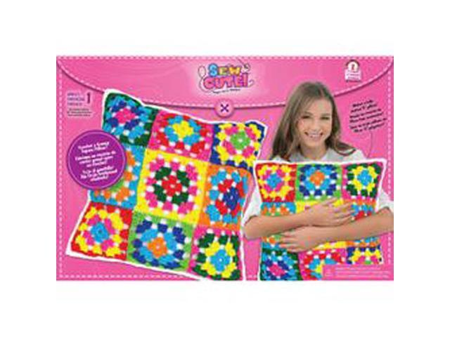 Sew Cute Crochet Granny Squares Pillow-