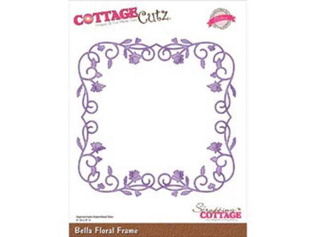 CottageCutz Elites Die-Bella Floral Frame