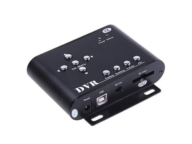 Tomotop 2CH Car Security Mini DVR SD Video/Audio CCTV Recorder for Baby Monitor, Driving Record, Vehicle Monitor Record