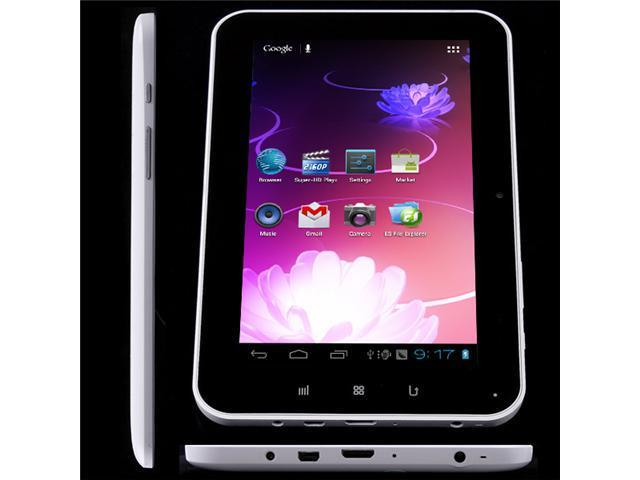 "7"" Allwinner A10 Cortex A8 1GHz Android 4.0 Ultrathin 5-point Capacitive Tablet PC WiFi"