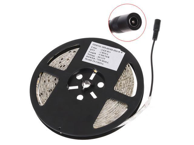 Warm White 5M Waterproof Epoxy 5050 300 SMD LED Strip Light
