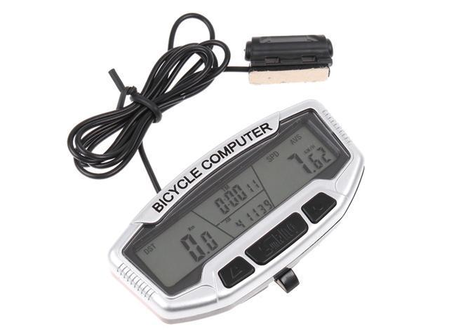 Waterproof Bike Bicycle Digital LCD Computer Odometer Speedometer Velometer Backlight 28 Functions - Riding Speed, Mileage, Time & Thermometer, Clock, Stopwatch