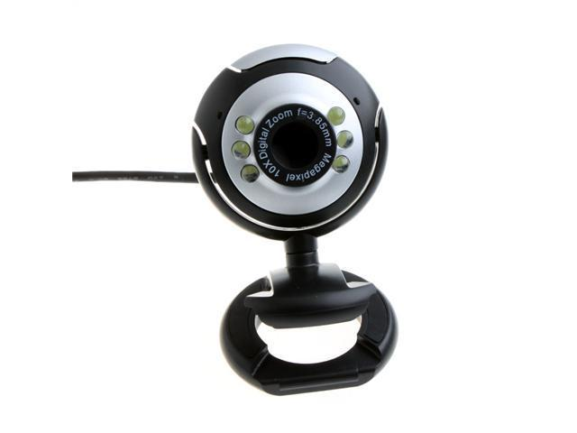 USB 2.0 50.0M 6 LED PC Camera HD Webcam Camera Web Cam with MIC for Computer PC Laptop Round