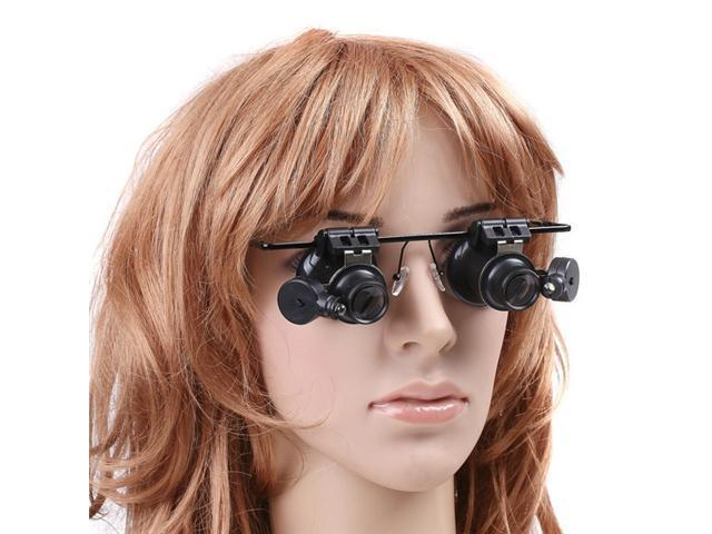 Watch Repair Magnifier Loupe 20X Glasses With LED Light for Installing & Repairing Camera, Watch, Precision Instruments, Jewelry