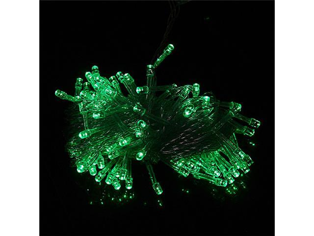 100 LED 10m String Decoration Light for Christmas Party Wedding Green 110V