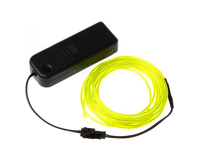 3M Lemon Flexible Neon Light EL Wire Rope Tube with Controller