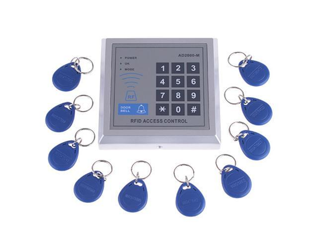 Rfid proximity door entry access control system 10 key for Door entry fobs