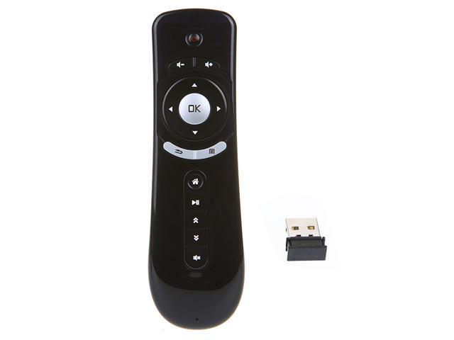2.4GHz Wireless Fly Air Mouse Android Remote Control 3D Motion Stick Black