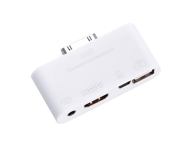White Digital HDMI AV Adapter Converter for iPad iPhone iPod