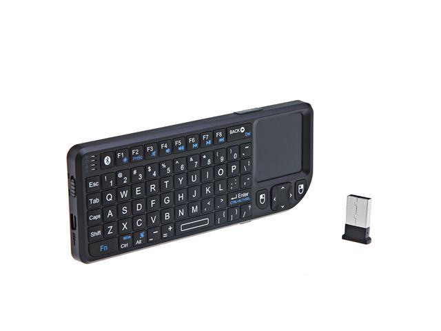 Rii Mini Wireless Bluetooth Keyboard with Touchpad Presenter For iPad 2 PC MAC iPhone PS3, Laser-Pointer with Remote Control ...