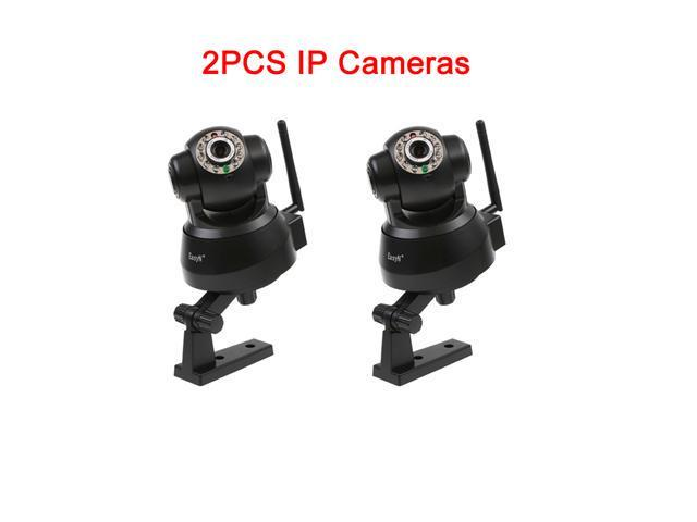 2 PCS EasyN Wireless Network IR Nightvision Cameras - LED 2-way Audio