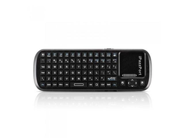 iPazzPort 84 Keys Mini Handheld Wireless Bluetooth Keyboard Touchpad Scroll Bar for Smart TV Tablet PC