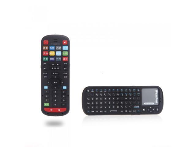 iPazzPort Universal IR Remote Control + 2.4G Mini Wireless Keyboard Mouse Touchpad with Voice for Google Smart TV