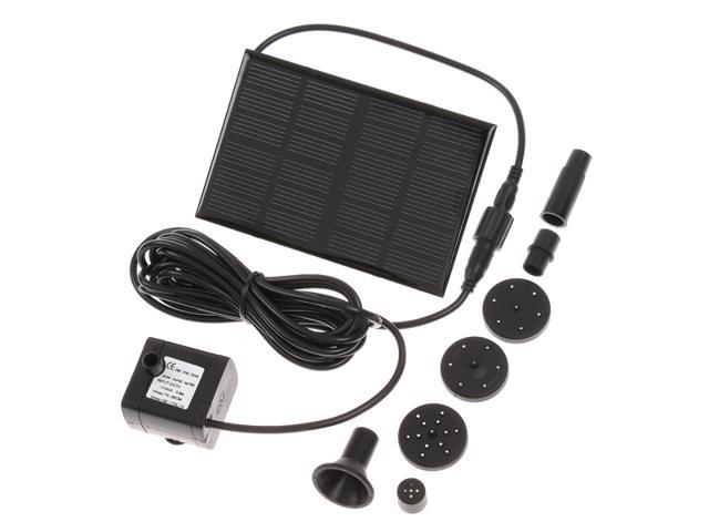 7V 160MA/140mA Solar-Powered Pump Brushless Pump restart within 3 Seconds when sunshine is back For Water Cycle/Pond Fountain/Rockery Fountain Solar-Powered Pump 170L/H