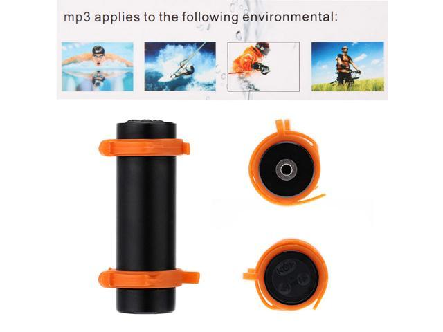 4GB Swimming Diving Water Waterproof MP3 Player FM Radio Earphone Black