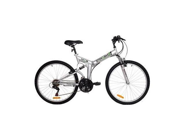 "Stowabike 26"" Folding Dual-Suspension 18 Speed Shimano Mountain Bike"