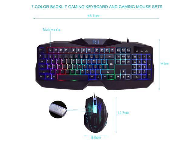 rii rk400 ergonomic led illuminated backlit usb wired professional esport gaming keyboard and. Black Bedroom Furniture Sets. Home Design Ideas