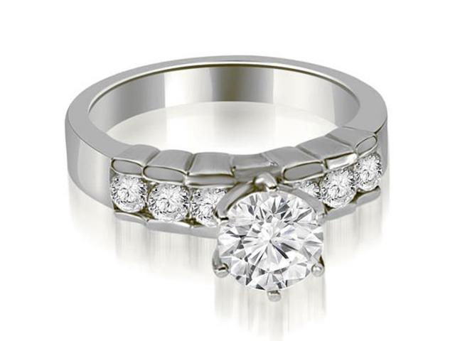 1.25 cttw. Round Cut Diamond Engagement Ring in 14K White Gold