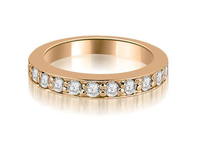 0.55 cttw. Round Cut Diamond Wedding Band in 14K Rose Gold