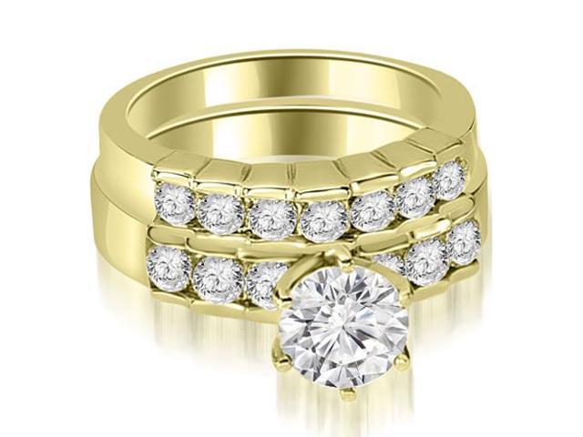1.50 cttw. Round Cut Diamond Engagement Set in 14K Yellow Gold